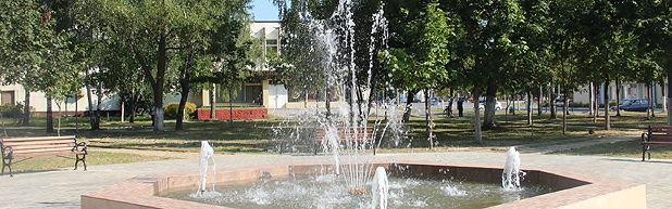 Fountain in the town of Buda-Koshelevo