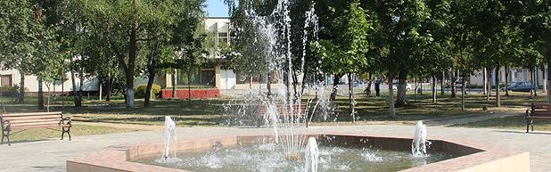 Фантан у горадзе Буда-Кашалёва